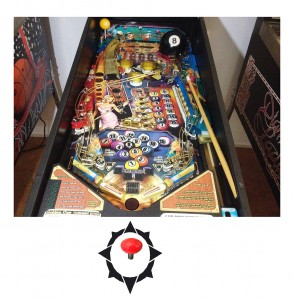 Player Uses Joystick to Nudge Playfield